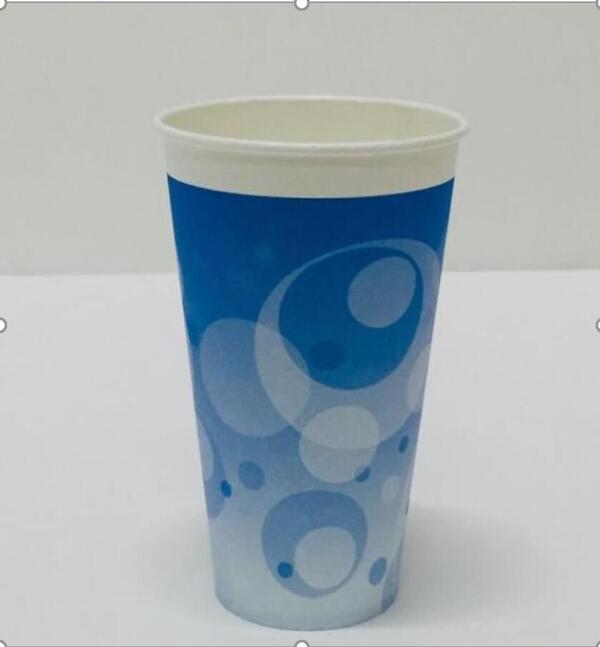 送料無料 北海道 沖縄除く お水もおいしい 泡模様ブルー色プリント 毎日がバーゲンセール 100P 12オンス泡模様ブルー色プリント マーケット 紙コップ 2000個 飲料水用 20袋