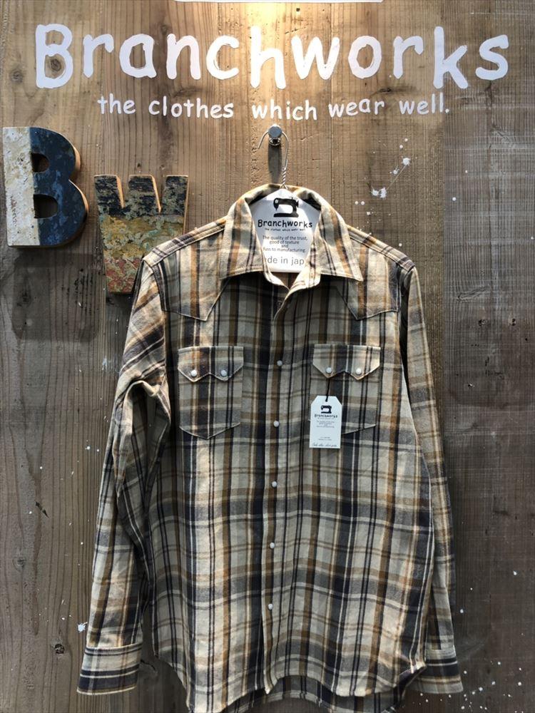 ウェスタンシャツ 10/-ワーカーズチェック Branch Works ブランチワークス 日本製 メンズ 父の日 プレゼント