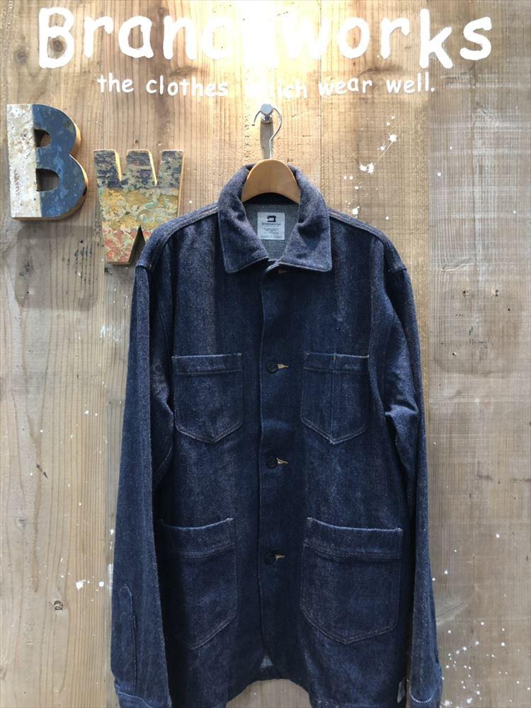 ワッシャーデニム COVER ALL Branch Works ブランチワークス 日本製 岡山デニム シャツ