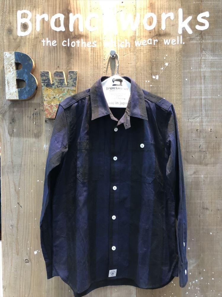 ブロックチェックシャツ ワークシャツ Branch Works ブランチワークス カットソー 日本製 メンズ 父の日 プレゼント