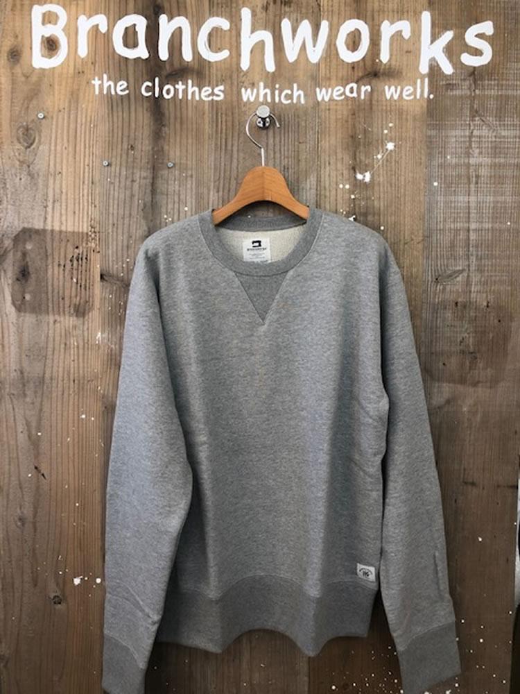 20/30s/10裏毛 CREW SWEAT Branch Works ブランチワークス カットソー 日本製 メンズ
