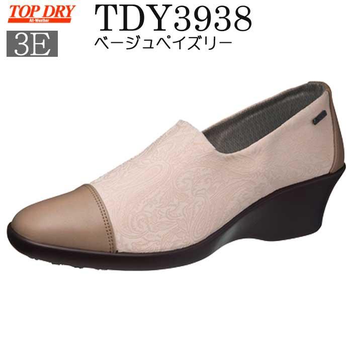 TopDry トップドライ【レディースモデル】 TDY3938 ベージュペイズリー:【送料無料】