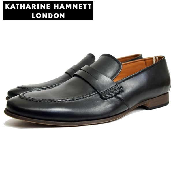 KATHARINE HAMNETT LONDONキャサリンハムネットメンズ・トラッドシューズ KH31610 BL ブラック【送料無料】
