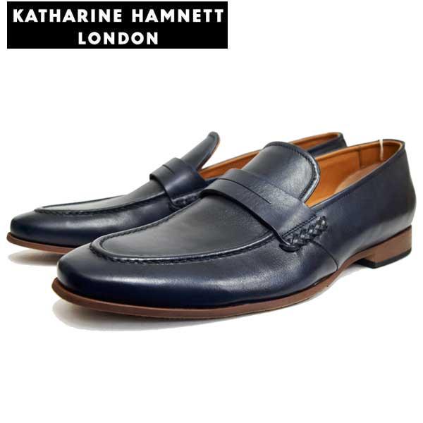 KATHARINE HAMNETT LONDONキャサリンハムネットメンズ・トラッドシューズ KH31610 NV ネイビー【送料無料】