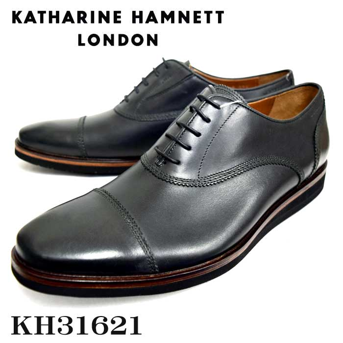 KATHARINE HAMNETT LONDONキャサリンハムネットメンズ・トラッドシューズ KH31621 BL ブラック【送料無料】