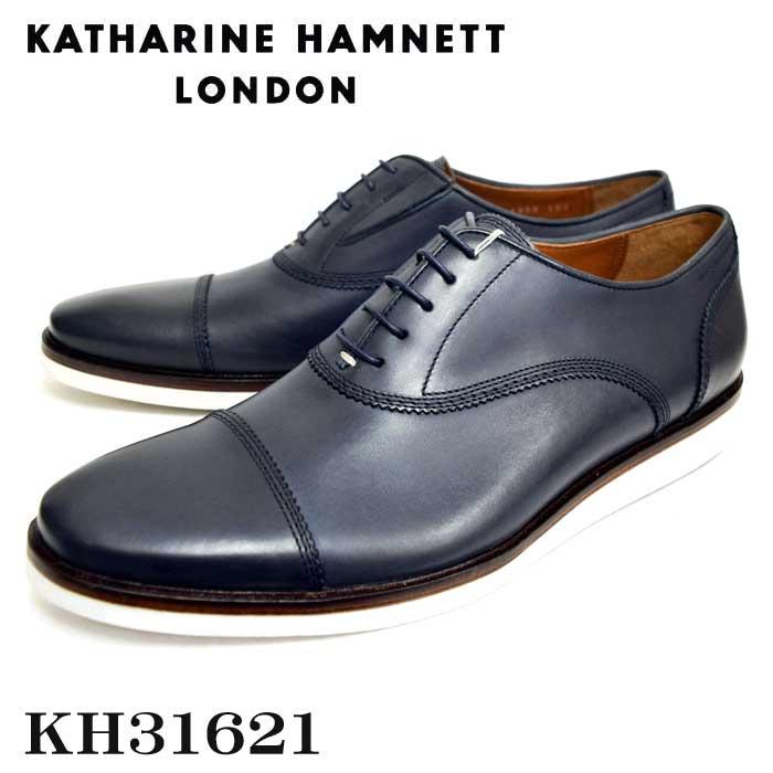 KATHARINE HAMNETT LONDONキャサリンハムネットメンズ・トラッドシューズ KH31621 NV ネイビー【送料無料】