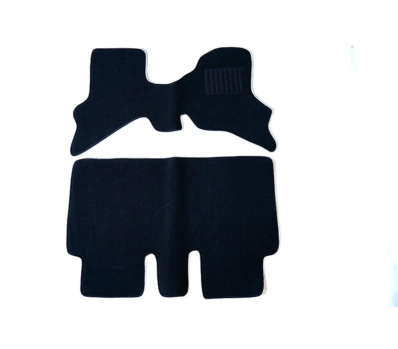 カーマット スズキ エブリイワゴン DA64W フロアマット&ドアバイザー(サイドバイザー)4枚付 専用 新品 ブラック/グレー/ベージュ/レッド/ワイン 黒/灰/赤/無地 ディーラーオプション カーペット パーツ アクセサリー 外装 内装 [送料無料]