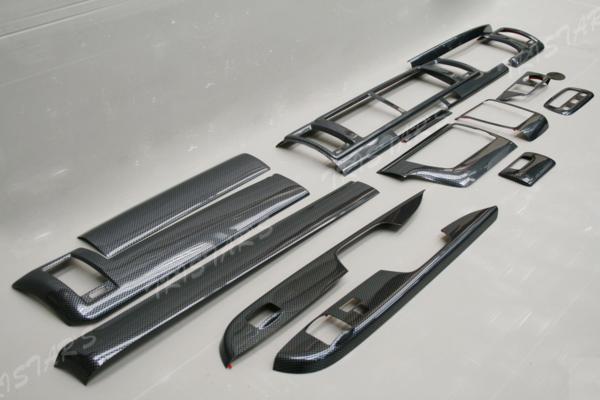 200系 ハイエース ワイド用 4型 S-GL インテリアパネル16p カーボン調