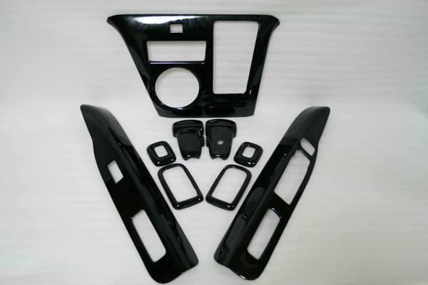 アトレーワゴン S321G S331G 中期型 インテリアパネル 9P 黒木目調