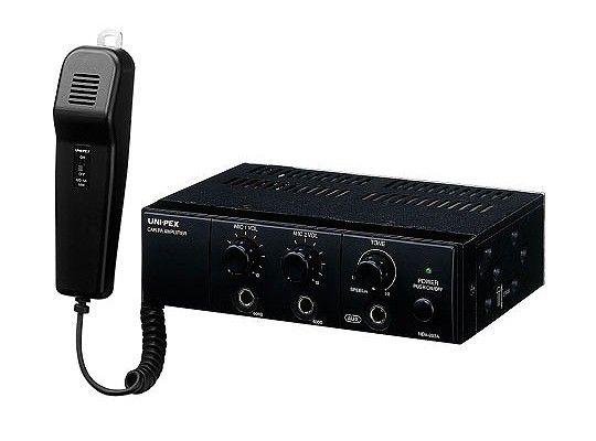 ユニペックス UNI-PEX NDA-202A 車載用アンプ マイク付 12V仕様 20W