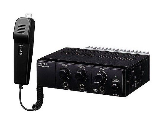 ユニペックス UNI-PEX NDA-602A 車載用アンプ マイク付 12V仕様 60W