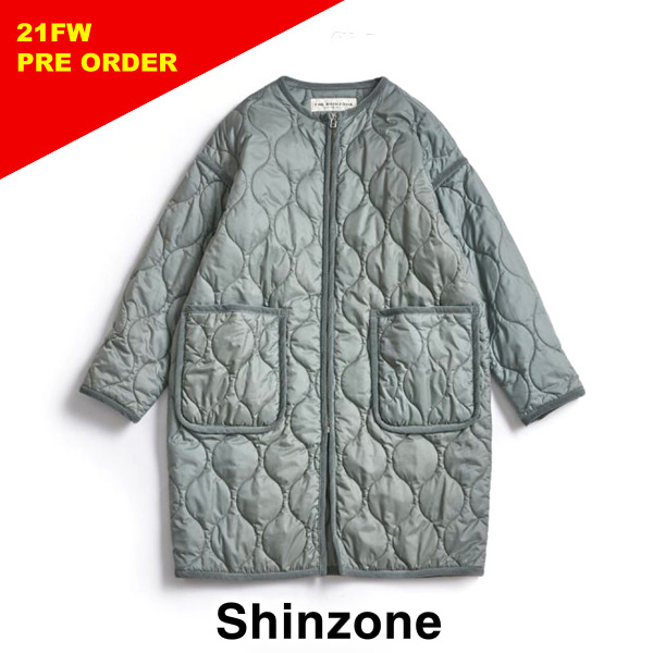 2021FW先行予約 21AW THE SHINZONE 格安店 シンゾーン QUILTING COAT 予約 セージ 21AMSCO05 送料無料限定セール中 レディース キルティングコート 送料無料