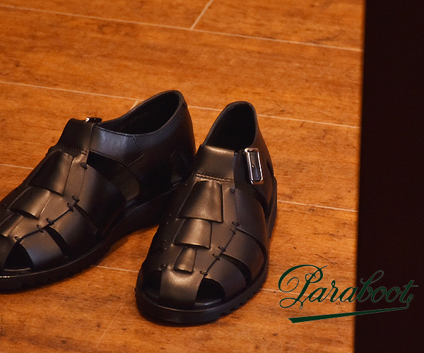paraboot paraboot 太平洋太平洋 NOIR 黑色廓尔喀凉鞋男装 123312