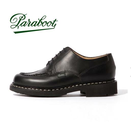 Paraboot パラブーツ CHAMBORD シャンボード NOIR ブラック メンズ LISレザ- 【送料無料】【返品・交換不可】
