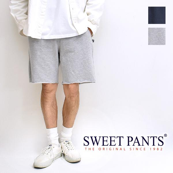【タイムセール!15%OFF】Sweet Pants スイートパンツ テリーカットオフスウェットショーツ 81315 メンズ レディース ユニセックス【送料無料】【ネイビー/グレー】【返品・交換不可】