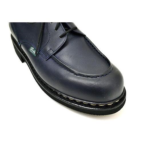 Paraboot帕拉長筒靴CHAMBORD shambodo NUIT深藍人LIS皮革−