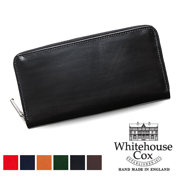Whitehouse Cox ホワイトハウスコックス ロングジップウォレット ブライドルレザー S2622【送料無料】