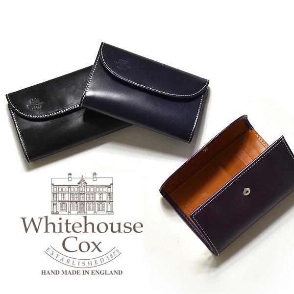 【2018AW】 WHITE HOUSE COX ホワイトハウスコックス ホリデーライン 三つ折りウォレット S7660 レディース メンズ 【送料無料】【正規品】【ネイビー・パープル/パープル・ニュートン/ブラック・パープル】 財布