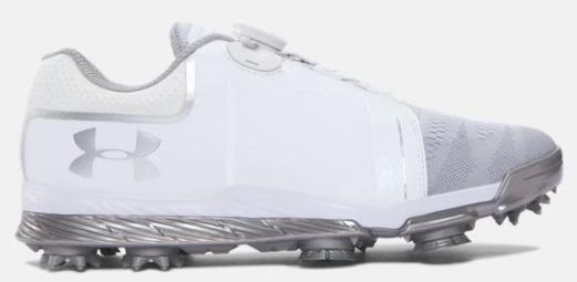アンダーアーマー レディース テンポスポーツ ボア Under Armour Tempo Sport BOA ゴルフシューズ White/Metallic Silver