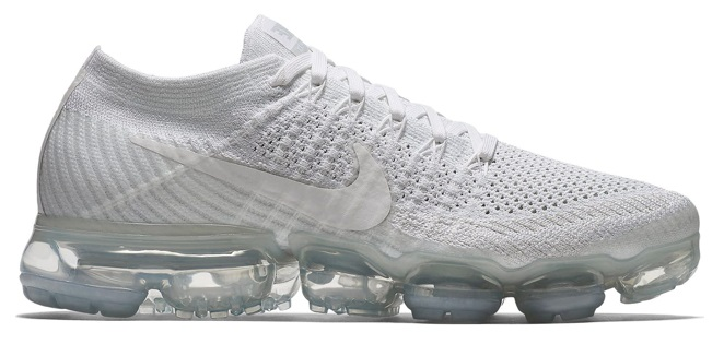 ナイキ エアヴェイパーマックス フライニット Nike Air VaporMax Flyknit Running Shoes レディース White/White/Sail/Lt Bone/Mtlc Silver