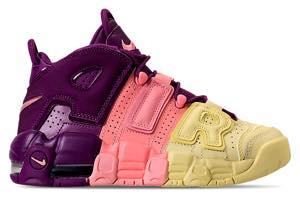 ナイキ ボーイズ/キッズ/レディース スニーカー Nike Air More Uptempo SE モア アップテンポ Citron/Pink/Bright Purple/Night Grape