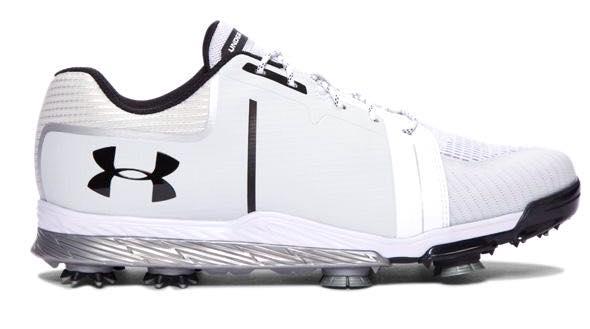 アンダーアーマー メンズ Under Armour Tempo Sport Golf Shose ゴルフシューズ White / Metallic Silver