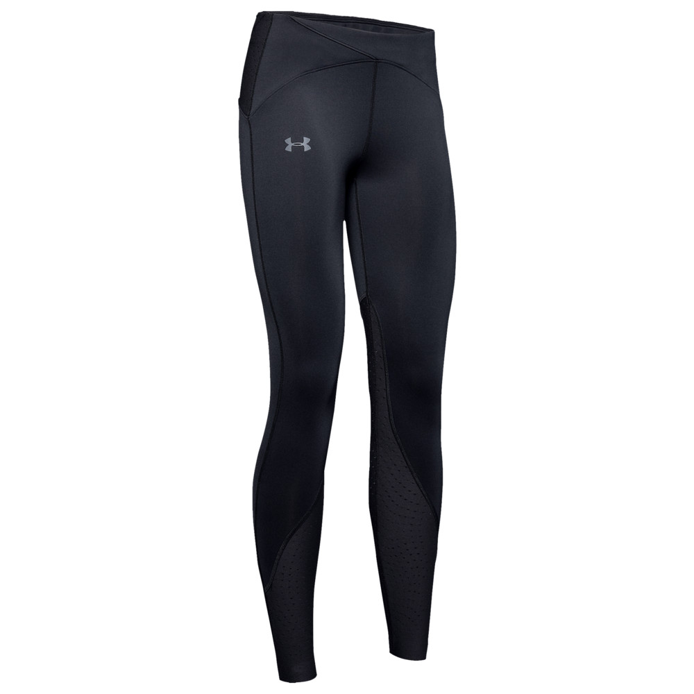 アンダーアーマー レディース Under Armour ColdGear Qualifier Speedpocket Tights レギンス タイツ Black/Reflective
