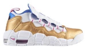 ナイキ ボーイズ/キッズ/レディース スニーカー Nike Air More Money エア モアマネー White/Fuchsia Blast/Met Gold/Racer Blue