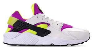 ナイキ メンズ スニーカー Nike Air Huarache Run '91 QS ランニングシューズ White/Black/Neon Yellow/Magenta