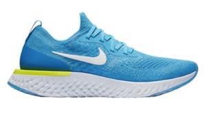ナイキ メンズ ランニングシューズ Nike Epic React Flyknit エピック リアクト フライニット スニーカー Blue Glow/White/Blue Volt/Glow