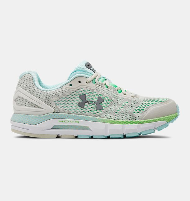 アンダーアーマー レディース Under Armour HOVR Guardian Running Shoes ランニングシューズ Summit White / Zap Green