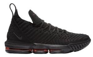 """ナイキ メンズ Nike LeBron 16 XVI """"Fresh Bred"""" バッシュ Black/University Red レブロン16"""