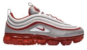 ナイキ ボーイズ/キッズ/レディース スニーカー Nike VaporMax 97 ヴェイパーマックス Atmosphere/White/University Red