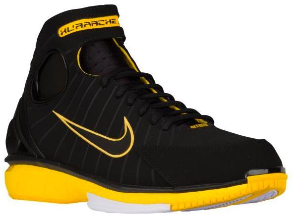 ナイキ メンズ バスケットボール シューズ Nike Air Zoom Huarache 2K4 バッシュ エアズーム ハラチ Black/Black/Varsity Maize/White