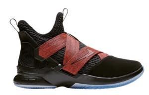"""ナイキ メンズ バスケットボール シューズ Nike LeBron Soldier XII 12 """"Black Red"""" レブロン ソルジャー Black/Black"""