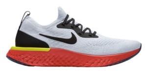 ナイキ メンズ ランニングシューズ Nike Epic React Flyknit エピック リアクト フライニット スニーカー True White/Black/Pure Platinum/Bright Crimson