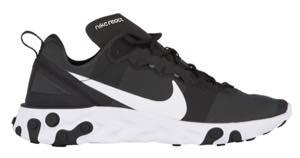 ナイキ メンズ ランニングシューズ Nike React Element 55 スニーカー リアクト Black/White