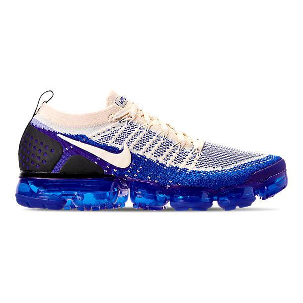 即納 ナイキ メンズ ランニングシューズ Nike Air Vapormax Flyknit 2 スニーカー Light Cream/White/Racer Blue