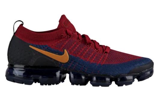 ナイキ メンズ ランニングシューズ Nike Air Vapormax Flyknit 2 スニーカー Team Red/Wheat/Obsidian/Black/College Navy