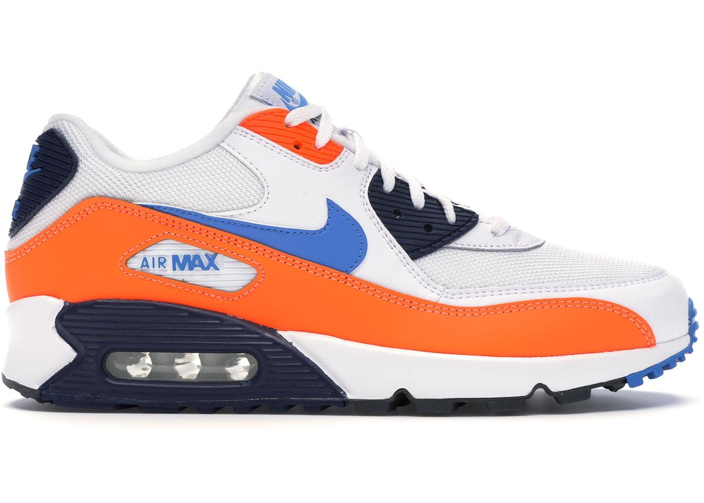 ナイキ メンズ Nike Air Max 90 スニーカー WHITE/PHOTO BLUE-TOTAL ORANGE-MIDNIGHT NAVY-DARK GREY エアマックス90