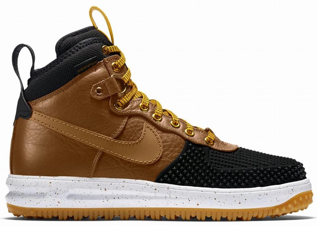 ナイキ メンズ ルナフォース1 Nike Lunar Force 1 Duckboots ダックブーツ Black/Gold Dart/White/Light British Tan