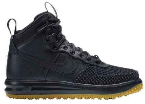ナイキ メンズ NIKE LUNAR FORCE 1 DUCKBOOTS ダックブーツ Black/Metallic Silver/Anthracite/Black ルナフォース1