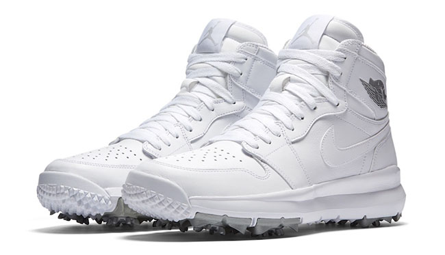 ジョーダン メンズ Air Jordan 1 Retro High Golf Shoes ゴルフシューズ White/Metallic Silver/White レトロ1