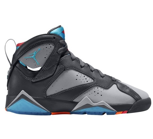 Jordan Retro 7 VII キッズ/レディース Dark Grey/Turquoise Blue/Wolf Grey/Total Orange ジョーダン バッシュ