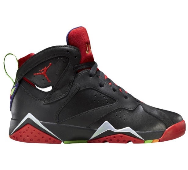 ジョーダン キッズ/レディース Jordan Retro 7 VII バッシュ Black/University Red/Green Pulse/Cool Grey
