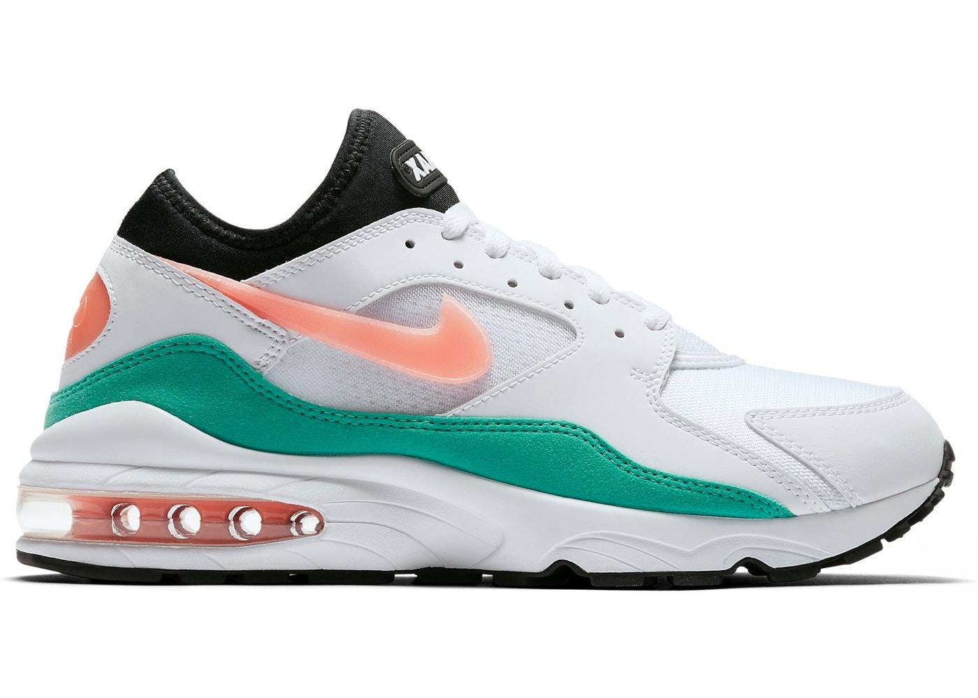 ナイキ メンズ スニーカー Nike Air Max 93 ランニングシューズ エアマックス 93 White/Crimson Bliss/Kinetic Green