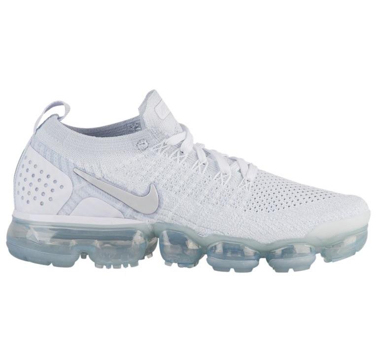 ナイキ レディース スニーカー Nike Air VaporMax Flyknit 2 ランニングシューズ White/White/Vast Grey