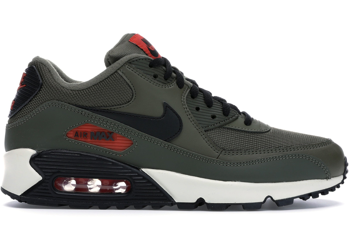 ナイキ メンズ Nike Air Max 90 スニーカー MEDIUM OLIVE/BLACK-TEAM ORANGE-CARGO KHAKI-BLACK-SAIL エアマックス90