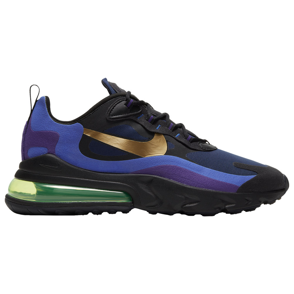 ナイキ メンズ エア マックス270 Nike Air Max 270 React スニーカー Black/University Gold/Deep Royal Blue