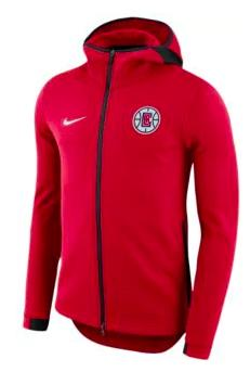 Los Angeles Clippers Nike NBA Player Showtime Full-Zip Hoodie メンズ Red ナイキ バスケ パーカー ロサンゼルス クリッパーズ